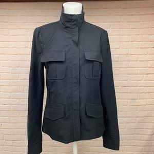 Designer Theory Women's Black Zip Up Jacket 8